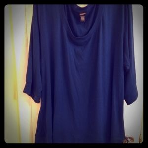 Blue-Green 3/4 Sleeve Shirt